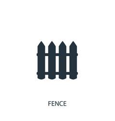 Fence icon simple gardening element symbol vector