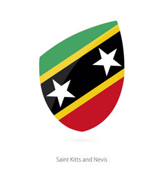 Flag saint kitts and nevis vector