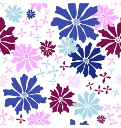 floral seamless white pattern vector image