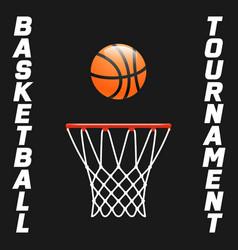 flyer or web banner design with basketball hoop vector image