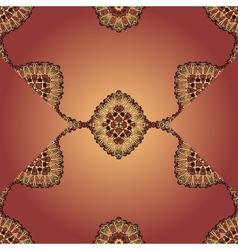 Flyer templste seamless design Brown mandala vector image