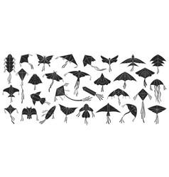 Flying kite on white vector