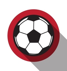 football icon with Japan flag vector image