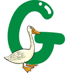 G for goose vector image