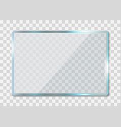 Glass texture acrylic window with reflection vector