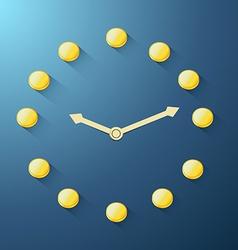 golden coin clock vector image