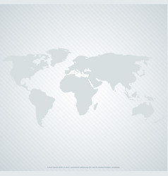 gray world map on gray background vector image