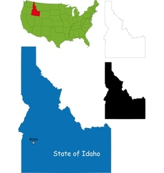 Idaho map vector