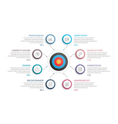 infographic template with target vector image