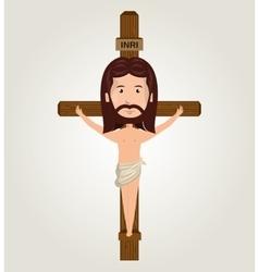 Jesus christ crucifix design isolated vector