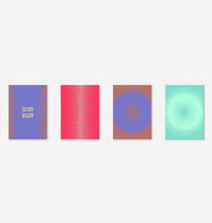 Line geometric elements on minimalist trendy cover vector