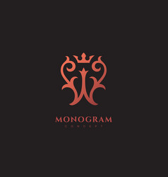Luxury monogram w vector