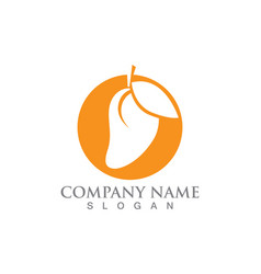 mango logo and icon fruit template vector image