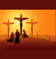 Mary mother jesus john beloved vector