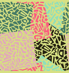memphis style seamless geometric pattern vector image