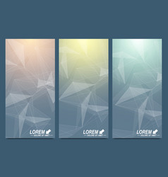 modern set of flyers geometric vector image