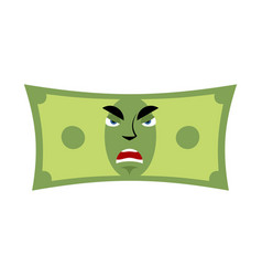 Money angry emotion cash emoji evil dollar vector