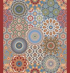moroccan azulejos tiles patchwork mosaic vector image