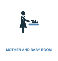 mother and baby room icon monochrome style design vector image