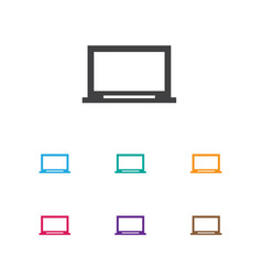 of laptop symbol on screen vector image
