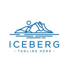 outline iceberg logo design vector image