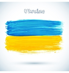 Painted Ukraine flag vector image