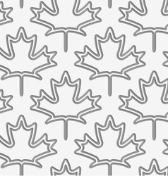 Perforated maple leaves double countered vector image