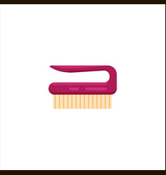 pink flat cleaning brush for cleaning and washing vector image