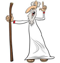 Prophet or sage comic character cartoon vector