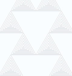 Quilling white paper small triangles with offset vector image