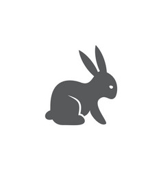 Rabbit icon on white background vector
