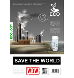 realistic environmental protection poster vector image