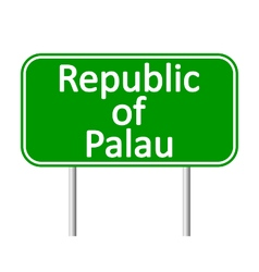 Republic of Palau road sign vector image