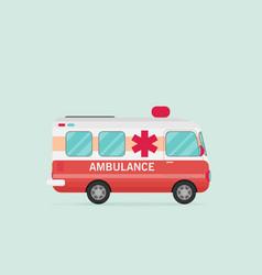 Retro ambulance car vector