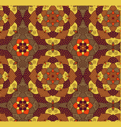 Seamless hand drawn mandala patternvintage vector