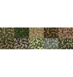Seamless woodland camo pattern vector image