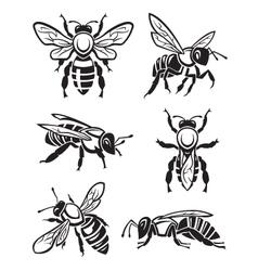 Set of bees vector