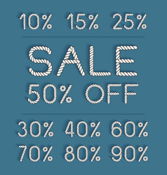 set sale labels for discount season vector image