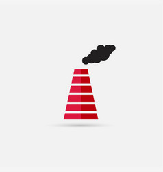 Smoke emission from factory pipes icon vector