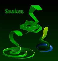 snakes vector image vector image