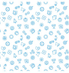 startup seamless outline pattern or vector image