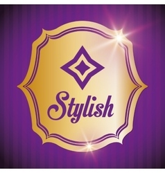 Stylish design Decorated icon purple vector image