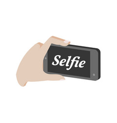 taking selfie photo on smartphone symbol flat vector image