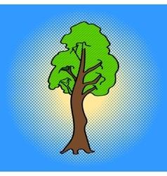 Tree Pop art aster vector