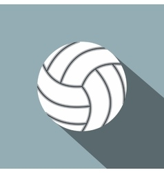 Volleyball ball flat icon vector image