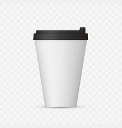 white coffee cap mock up empty mug template with vector image