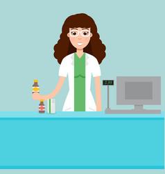 woman female pharmacist vector image