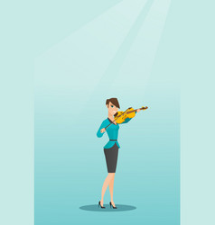 Woman playing the violin vector