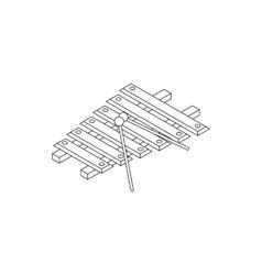 Xylophone icon isometric 3d style vector