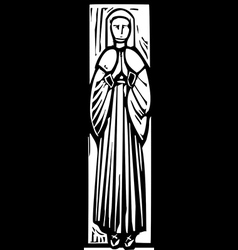 Medieval Lady Burial Image vector image vector image